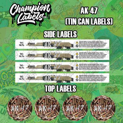 AK47 tin can labels