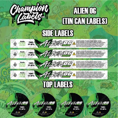 AlienOG tin can labels