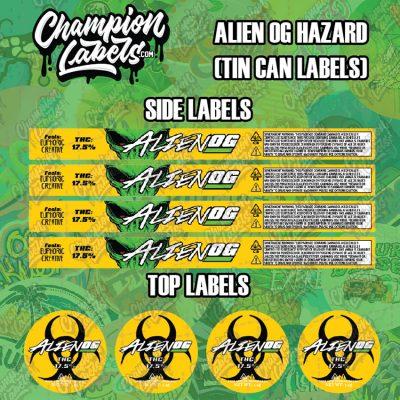 AlienOGHazard tin can labels