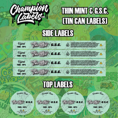 Thin Mint & GSC Tin can labels