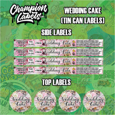 Wedding Cake Tin can labels