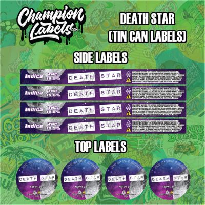 Death Star tin can labels