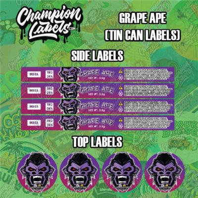 Grape Ape Tin Can Labels