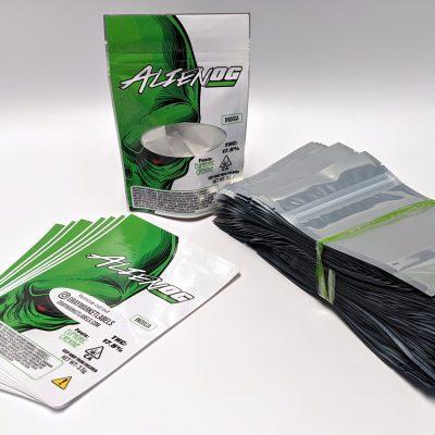 Alien OG bag labels