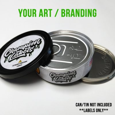 Custom Printed Press In Tuna Can Labels - Your art or branding