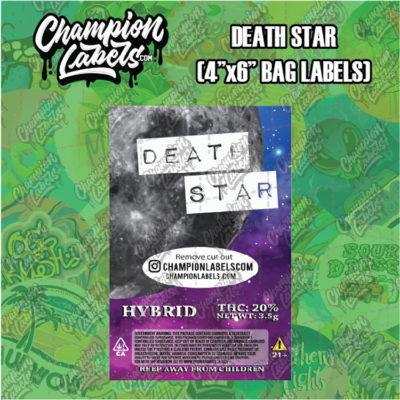 Death Star pouch bag labels