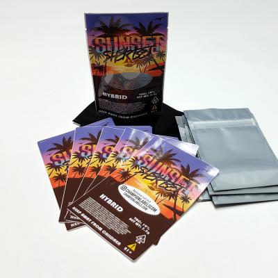 Sunset Sherbet CBD 4x6 bag labels