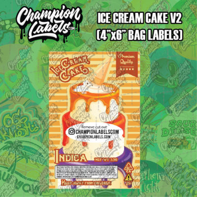 Ice Cream Cake V2 pouch bag labels