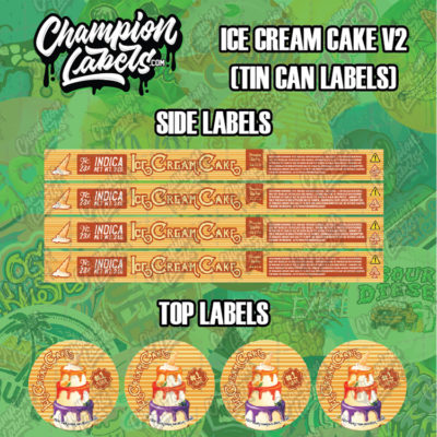 Ice Cream Cake V2 tin can labels