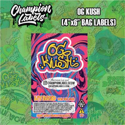 OG Kush pouch bag label