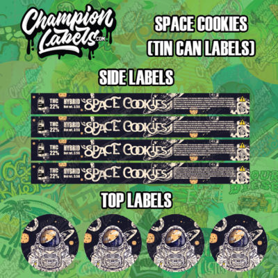 Space Cookies Tin can labels