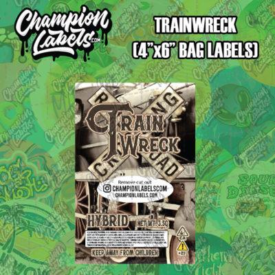 Trainwreck pouch bag label