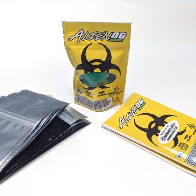 Alien OG Hazard CBD 4x6 bag labels