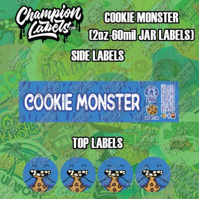 Cookie Monster labels