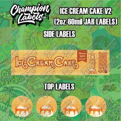 Ice Cream Cake V2 jar labels