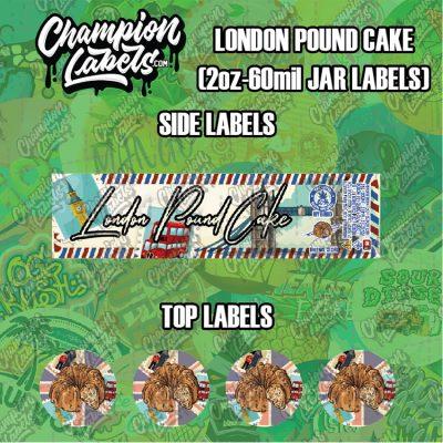 London Pound Cake labels