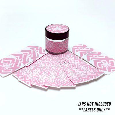 Pink Runts CBD jar labels