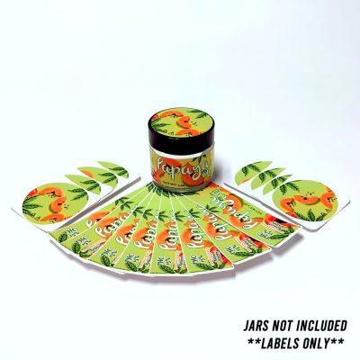 Papaya jar CBD stickers