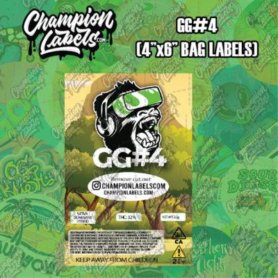 GG4 pouch bag labels