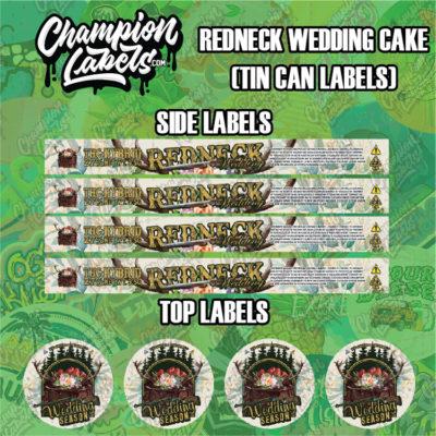 Redneck Wedding Tin can labels