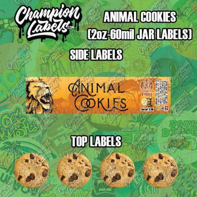 Animal Cookies jar labels