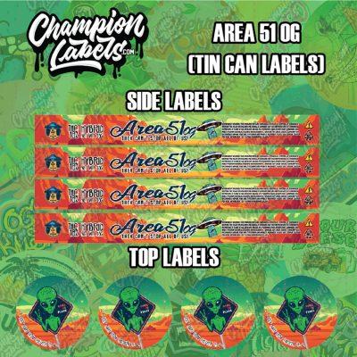 Area 51 OG ChamArea 51 OG tin can labelspions Listing