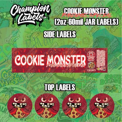 Cookie Monster Pandemic labels