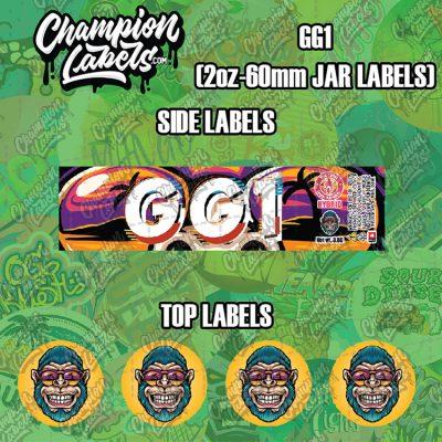 GG1 jar labels