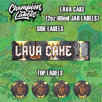 Lava Cake labels