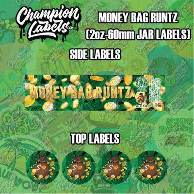 Money Bag Runtz jar labels