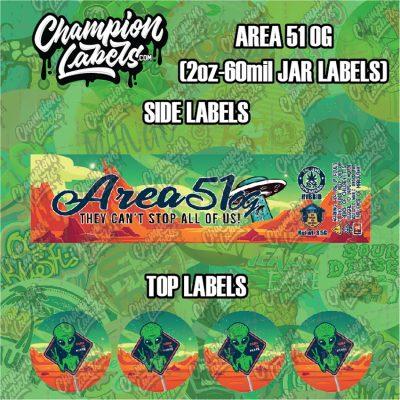 Area 51 jar labels