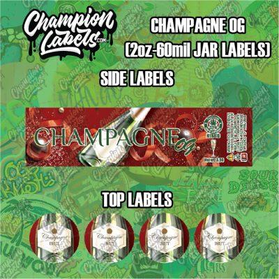 Champagne OG jar labels