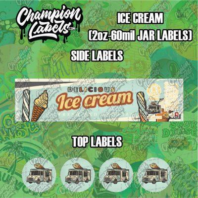 Ice Cream jar labels