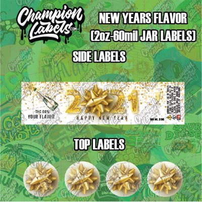 New Years Flavor jar labels