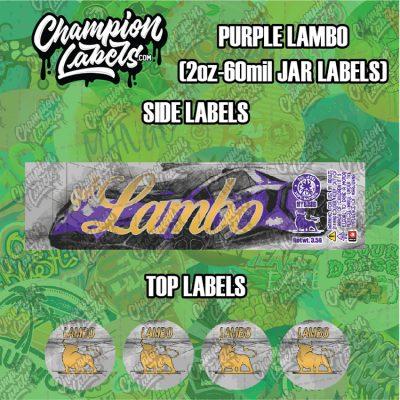 Purple Lambo jar labels