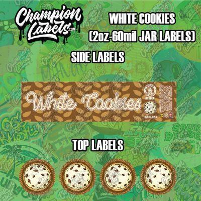 White Cookies jar labels