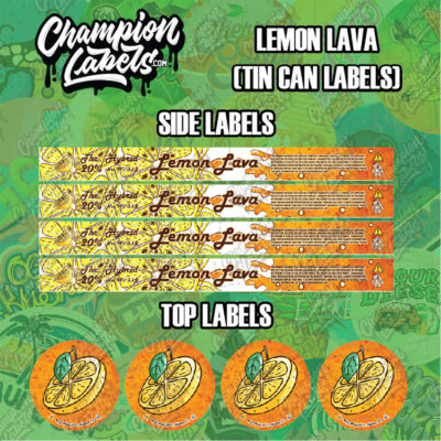 Lemon Lava tin can labels