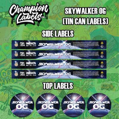 Sky Waker OG Tin can labels