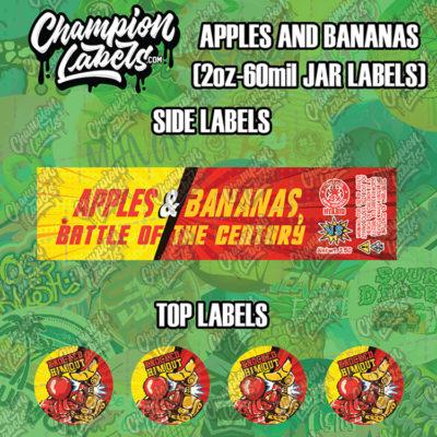 Apples and Bananas Jar labels