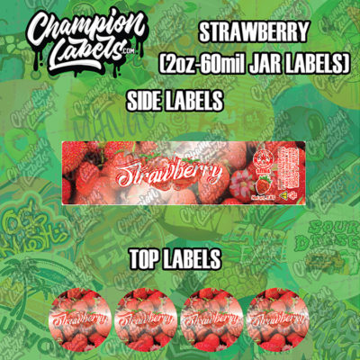 Strawberry jar labels