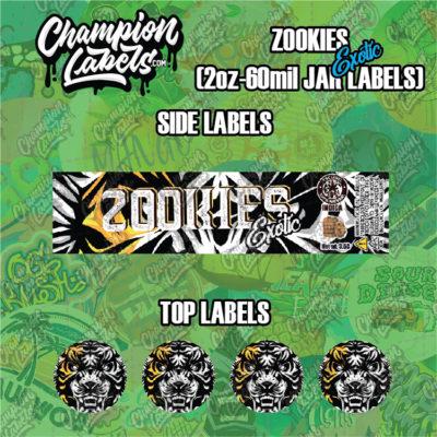 Zookies Exotic jar labels