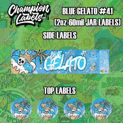 Blue Gelato 41 jar labels