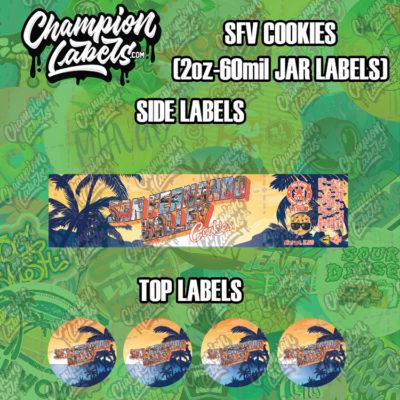 SFV Cookies jar labels