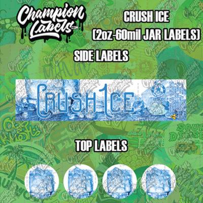 Crush Ice Jar Labels